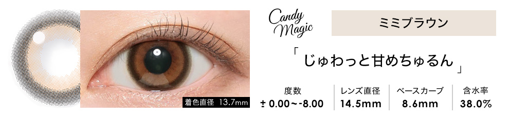 candymagic 1month ミミブラウン 1枚入り×2箱
