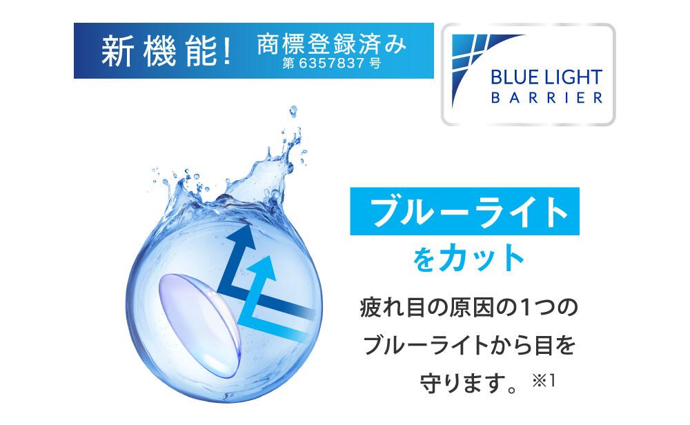 新機能!商標登録出願中 ブルーライトをカット 疲れ目の原因の1つのブルーライトから目を守ります。